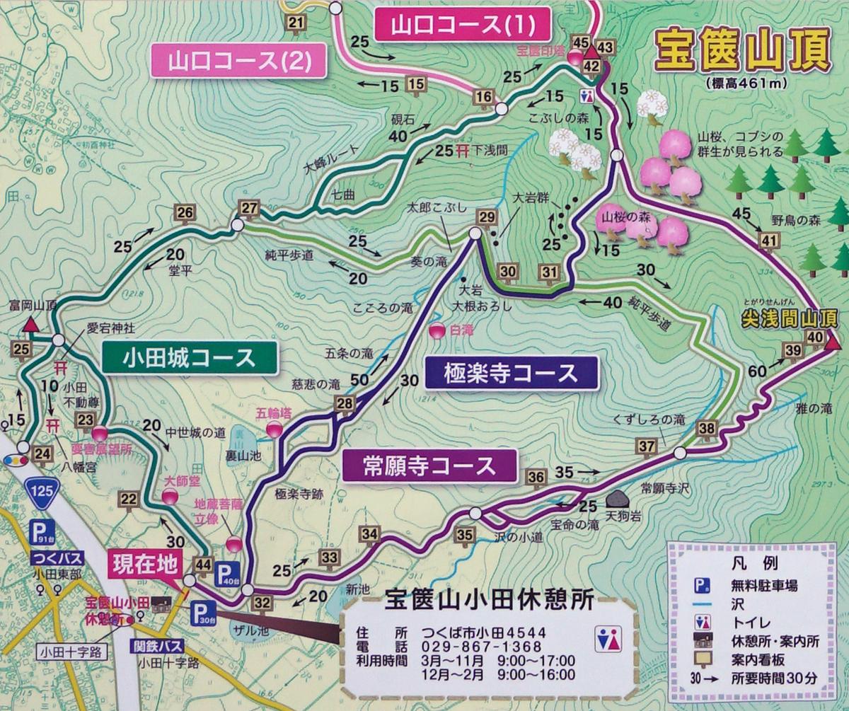宝篋山観光マップ