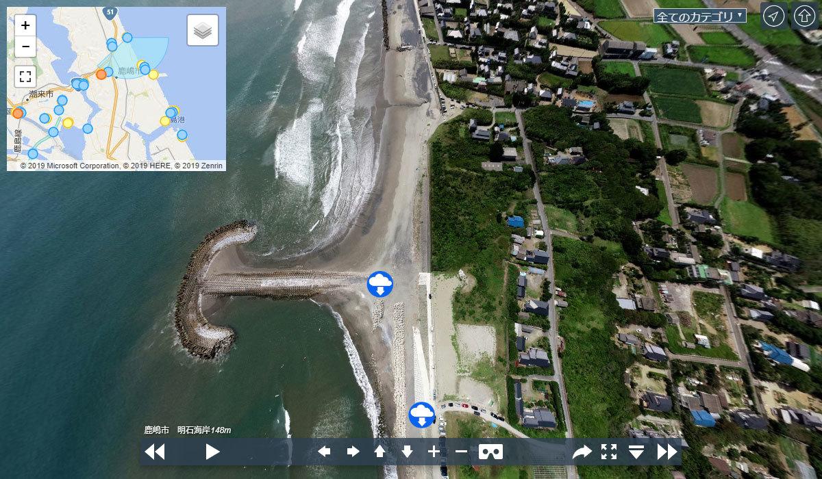 明石海岸・清水海岸の観光案内360°パノラマ写真VRツアー