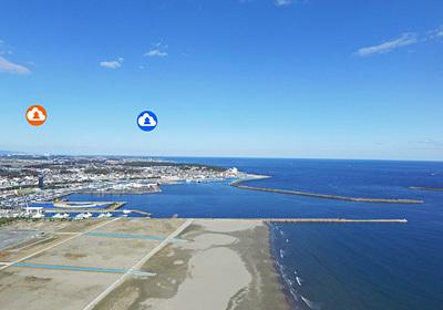 茨城の代表する海岸の大洗海岸の写真
