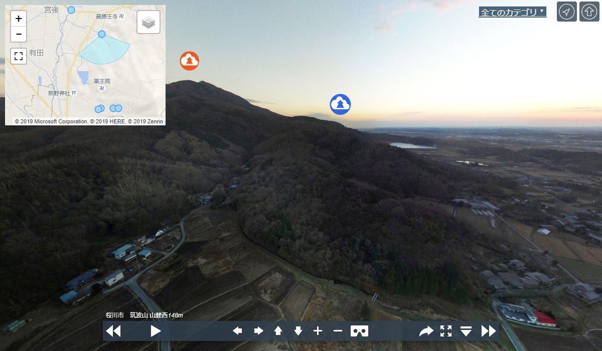 筑波山 山麓VRツアーパノラマ写真のサムネイル