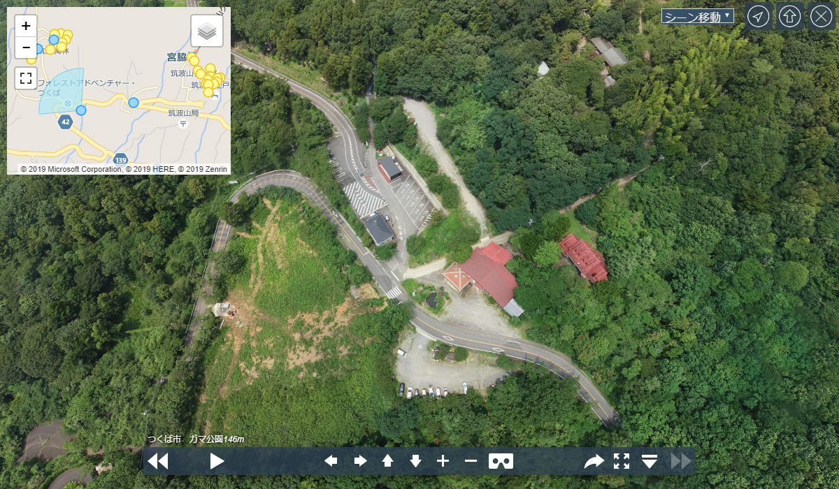 がま公園駐車場おすすめ観光VRツアー