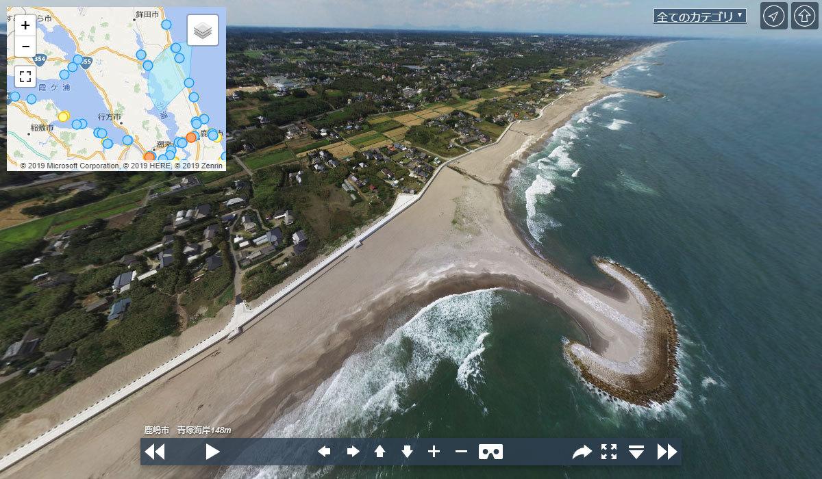 浜津賀海岸・荒井海岸の観光案内360°パノラマ写真VRツアー