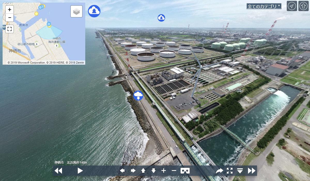北浜海岸の観光案内360°パノラマ写真VRツアー