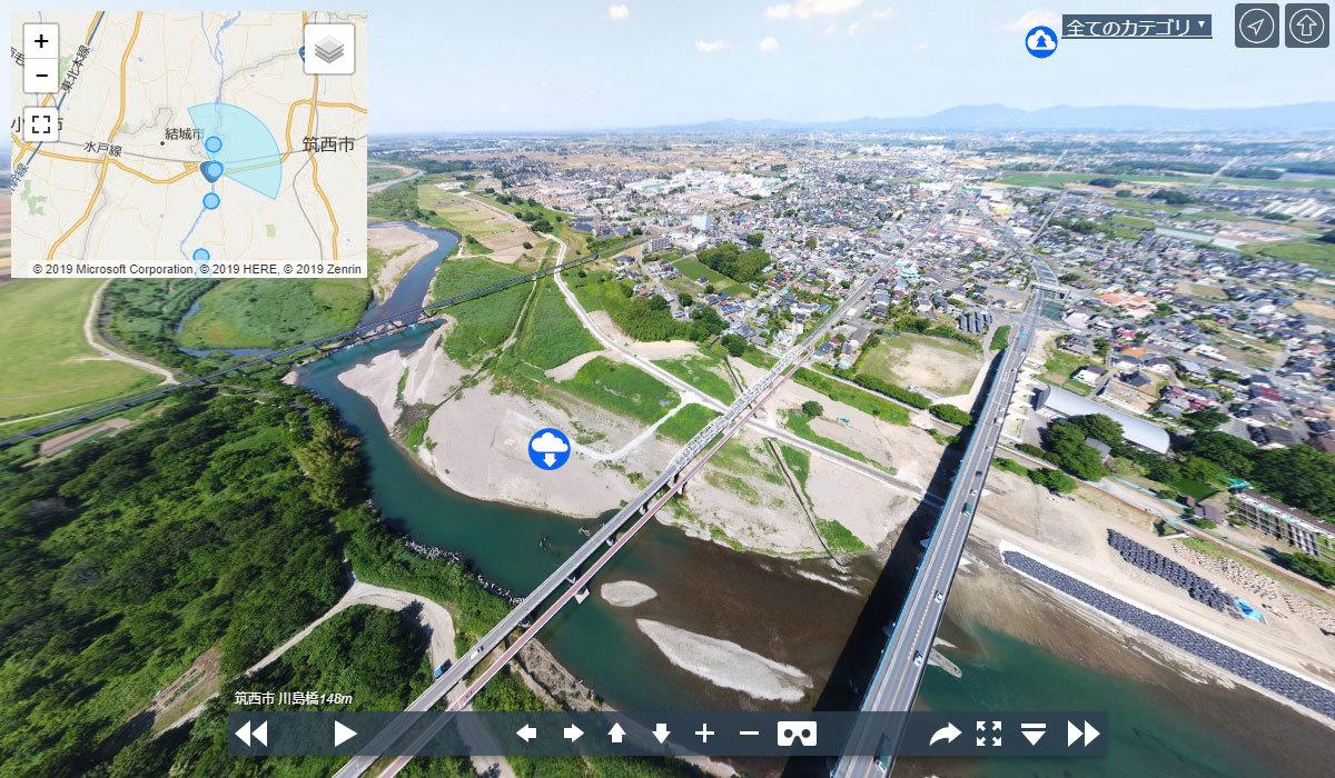 川島橋の観光案内360°パノラマ写真VRツアー
