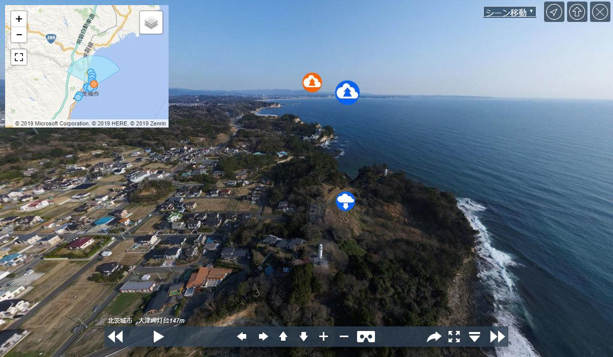 大津岬灯台の観光案内VRツアー