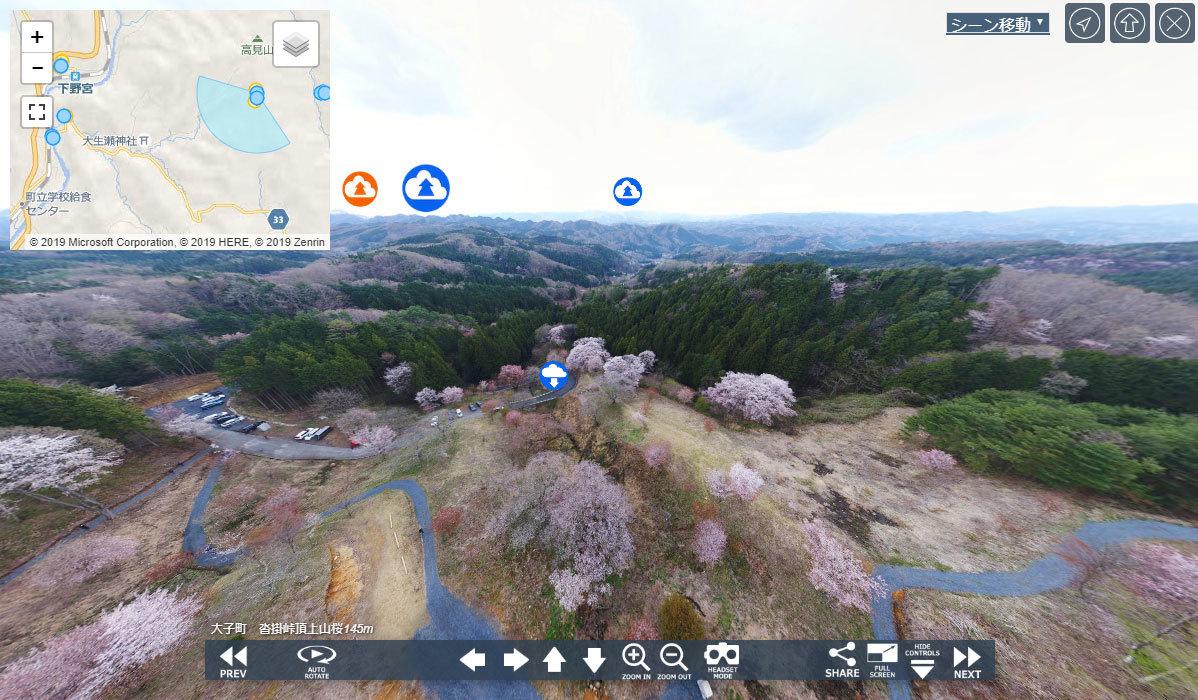 大子町おすすめ季節観光スポットの沓掛峠の山桜