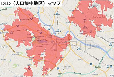 茨城VRツアーの人口集中地区マップ検索