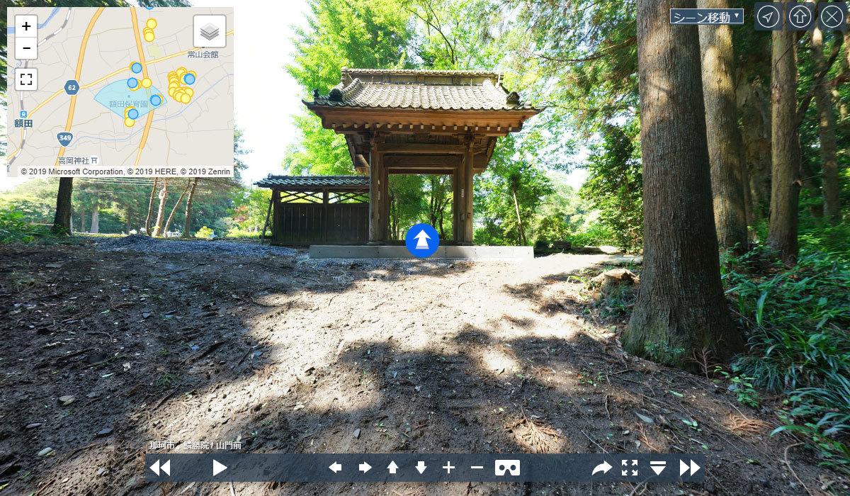 那珂市の寺おすすめスポット鱗勝院の観光空撮写真
