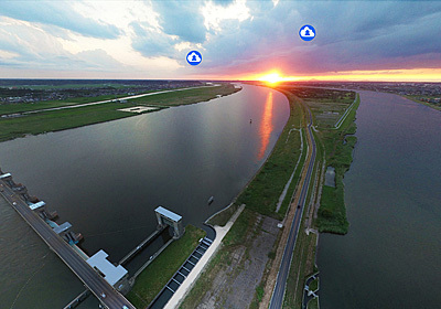 茨城を代表する川の利根川の写真