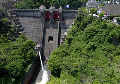 茨城を代表するダムの竜神ダムの写真