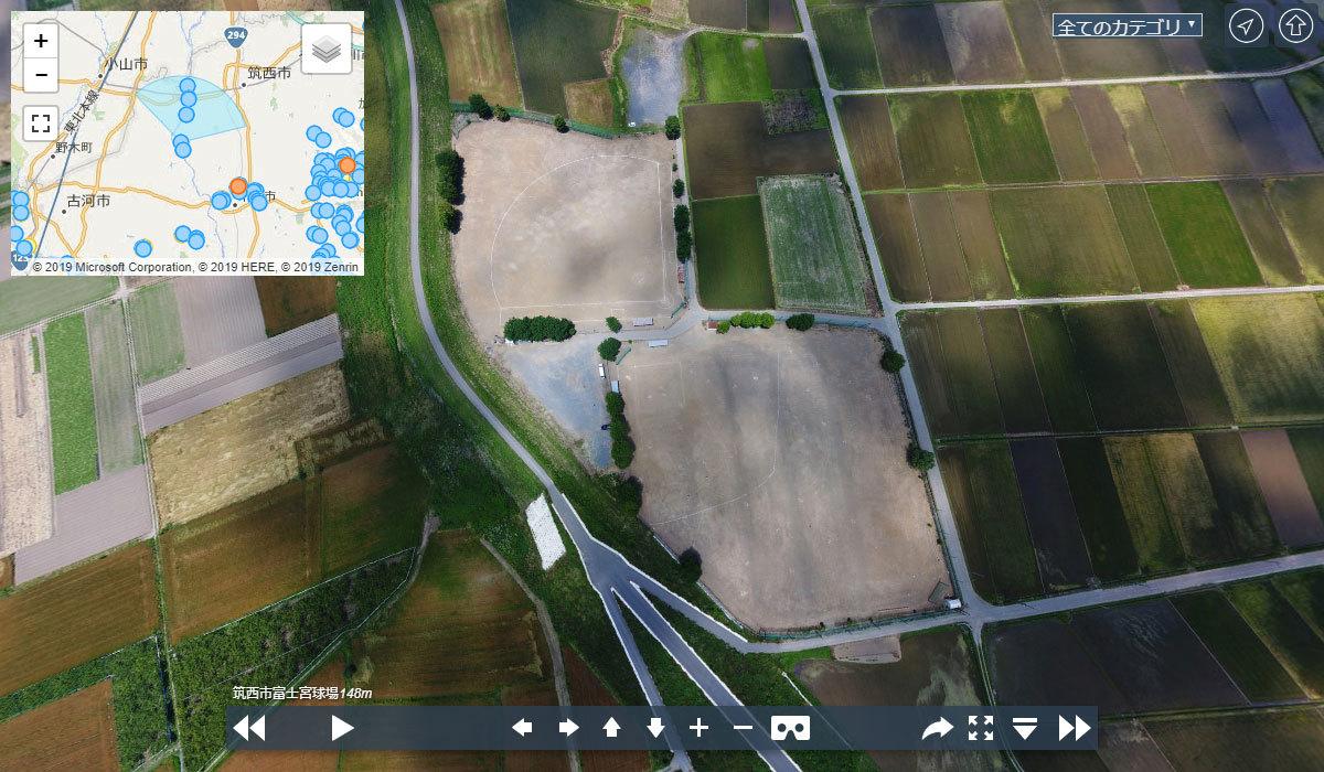 関城富士宮球場の観光案内360°パノラマ写真VRツアー