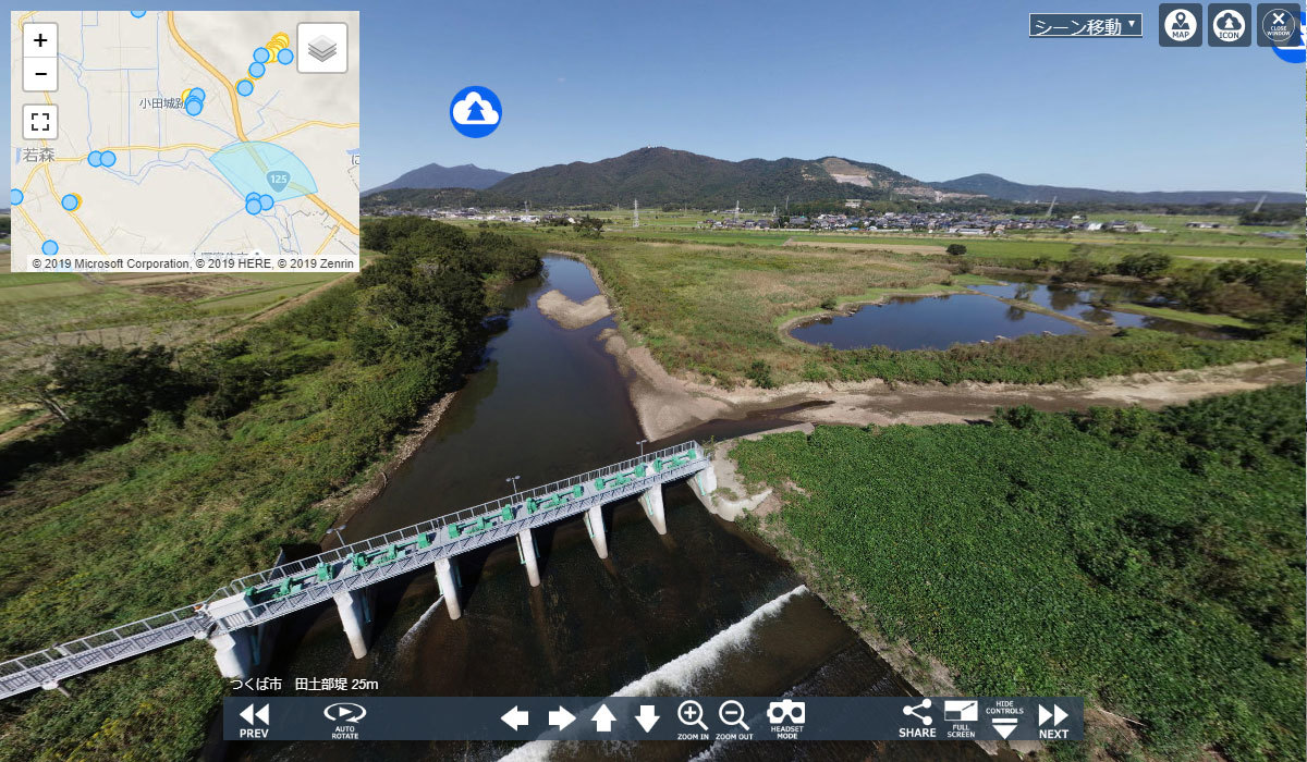 つくば市の地理景観おすすめ釣りスポットの田土部堰
