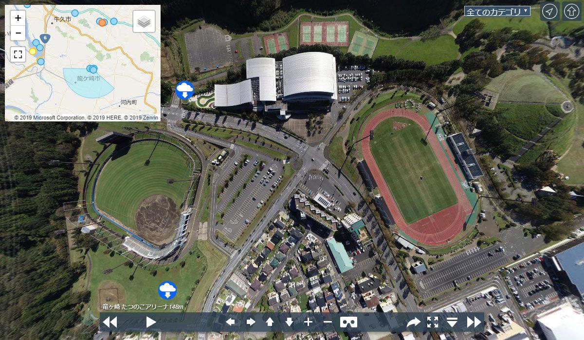 たつのこアリーナの観光案内360°パノラマ写真VRツアー