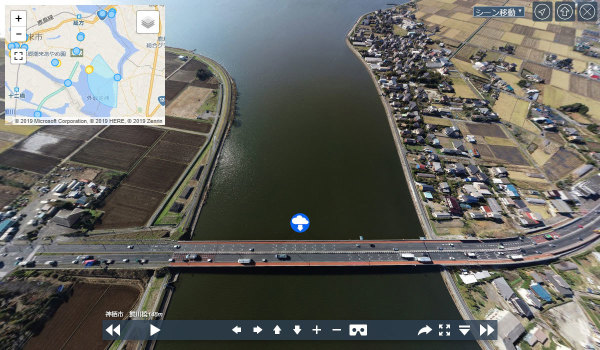 潮来市おすすめ地理・景観スポット鰐川橋の案内