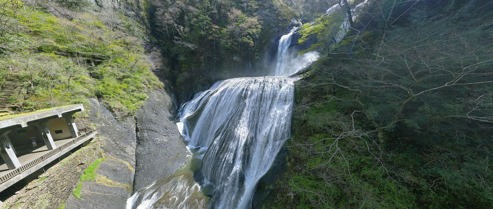 観光名所の袋田の滝の写真