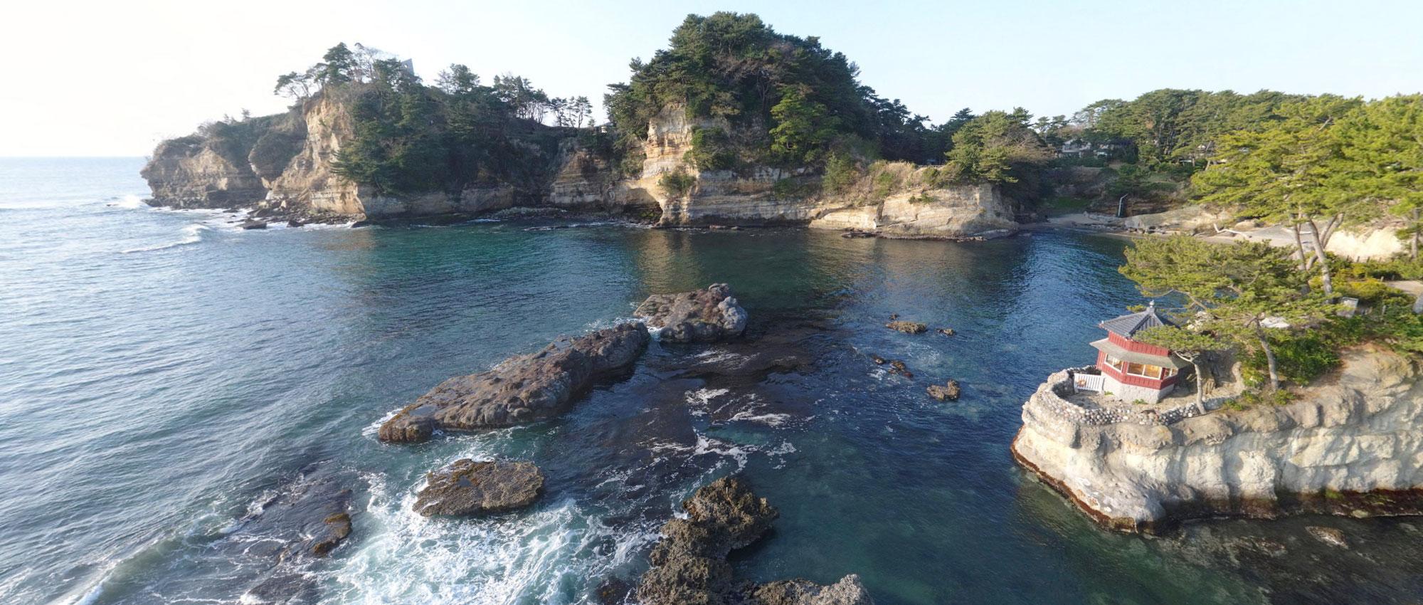 観光名所の五浦海岸・五浦温泉の写真