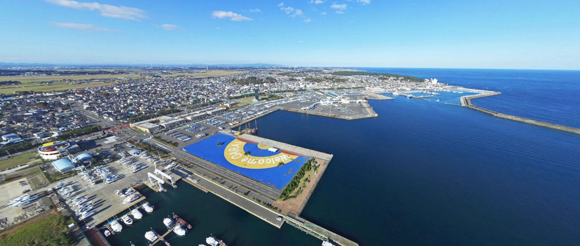 観光名所の大洗港の写真