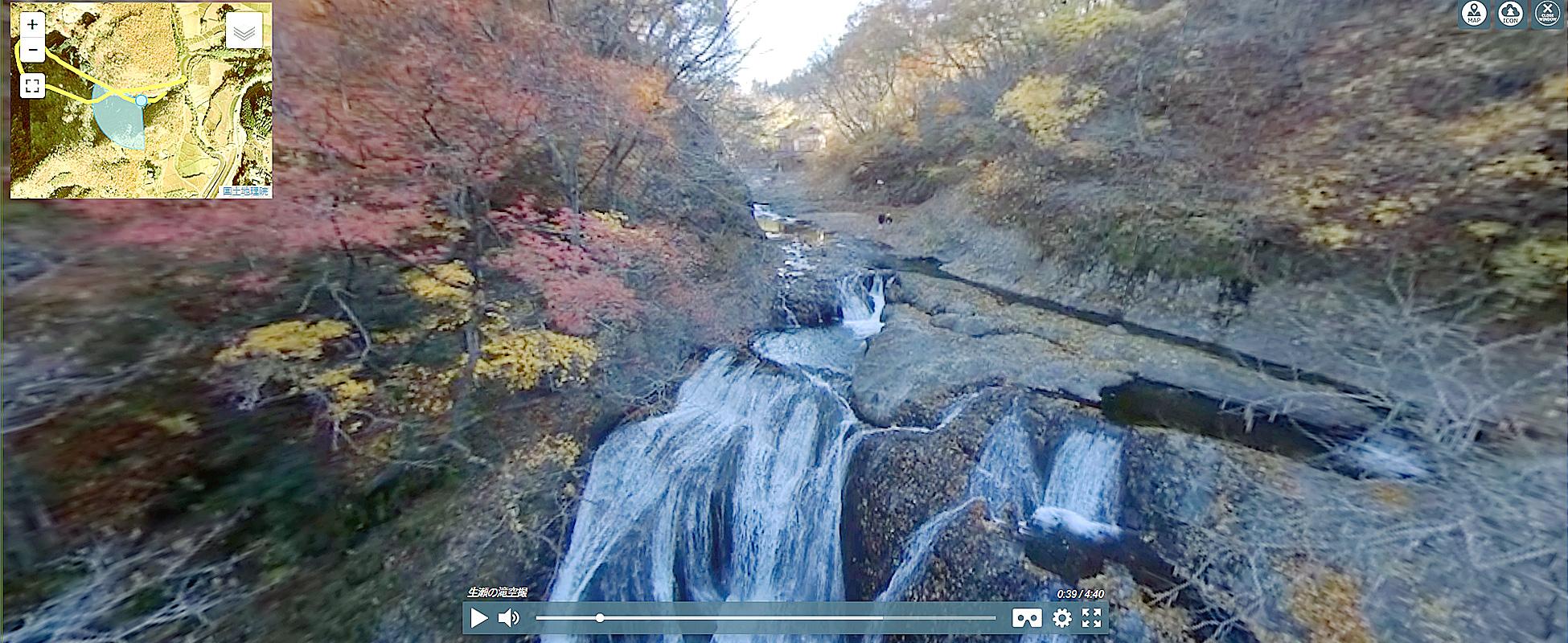 地図・経路誘導の観光360VR動画システム